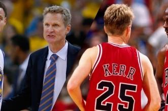 Steve Kerr, Michael Jordan et Stephen Curry