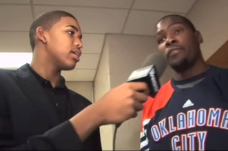 A 15 ans, Karl-Anthony Towns interviewait Kevin Durant