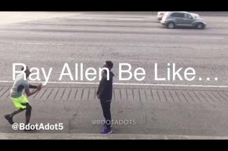 Brandon Armstrong imite Ray Allen
