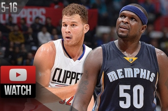 Highlights: le duel Blake Griffin (24 pts) – Zach Randolph (26 pts)