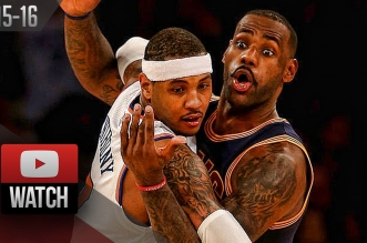 Highlights: le duel LeBron James (31 pts) – Carmelo Anthony (26 pts)