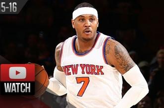 Les highlights de Carmelo Anthony face aux Pelicans: 29 points, 13 rebonds