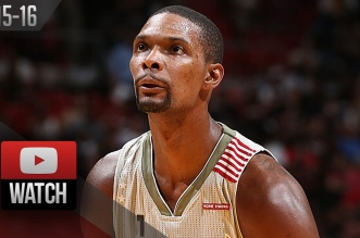 Les highlights de Chris Bosh (30 pts, 11 rbds) et Hassan Whiteside (19 pts, 15 rbds)