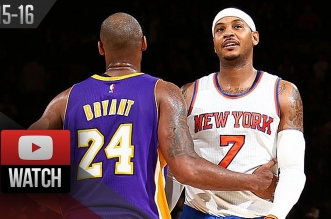 Les highlights du duel Carmelo Anthony (24 pts) – Kobe Bryant (18 pts)