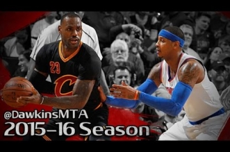 Les highlights du duel LeBron James (23 pts) – Carmelo Anthony (17 pts)