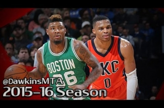 Les highlights du duel Marcus Smart (26 pts) – Russell Westbrook (27 pts)