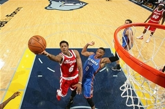 Les highlights du duel Russell Westbrook (40 pts, 14 asts) – Mario Chalmers (29 pts)