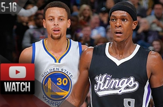 Les highlights du duel Stephen Curry (24 pts) – Rajon Rondo (14 pts, 12 rbds, 15 asts)