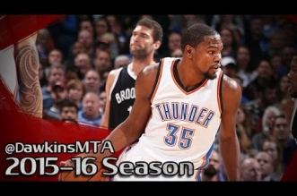 Les highlights du duo Kevin Durant (30 pts) – Russell Westbrook (27 pts, 13 asts)