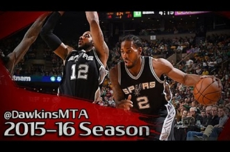 Les highlights du duo LaMarcus Aldridge (24 pts, 14 rbds) – Kawhi Leonard (19 pts)