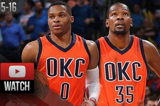 Les highlights du duo Russell Westbrook – Kevin Durant contre Denver