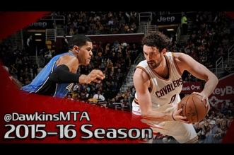 Les highlights du trio Kevin Love (34 pts) – LeBron James (13 asts) – Jr Smith (26 pts)