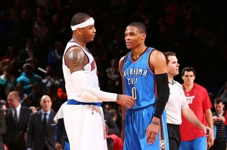 russell westbrook et carmelo anthony