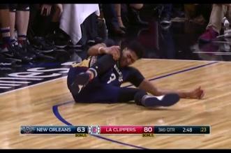 Vidéo: les images de la blessure d'Anthony Davis