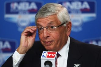 BERLIN, GERMANY - OCTOBER 06:  NBA commissioner David Stern is seen during the press conference before the NBA Europe Live 2012 Tour match between Alba Berlin and Dallas Mavericks at O2 World on October 6, 2012 in Berlin, Germany.  (Photo by Joern Pollex/Bongarts/Getty Images) *** Local Caption *** David Stern