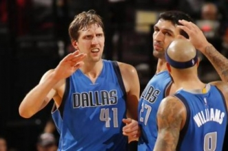 Dirk Nowitzki et Deron Williams