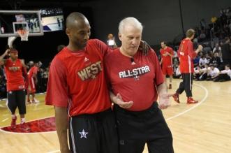 Gregg Popovich et Kobe Bryant