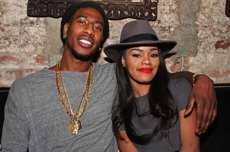 "Mandatory Credit: Photo by MediaPunch/REX USA (2475690b) Iman Shumpert & Teyana Taylor Teyana Taylor ""VII"" Listening Party, New York, America - 27 Oct 2014"