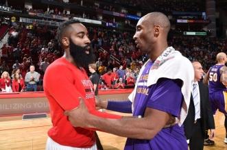 James Harden et Kobe Bryant