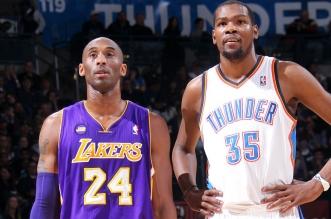 Kevin Durant et Kobe Bryant