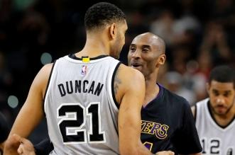 Kobe Bryant et Tim Duncan Spurs Lakers
