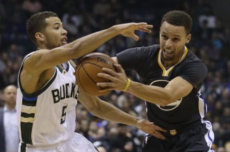 Michael Carter Williams et Stephen Curry