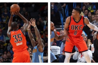 Russell Westbrook et Kevin Durant