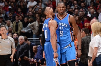 Russell Westbrook et Kevin Durant Thunder