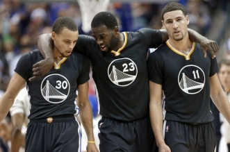 Stephen Curry, Klay Thompson et Draymond Green