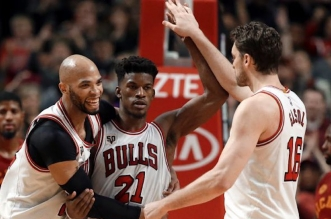Jimmy Butler sauve les Bulls en prolongation