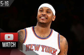 Les highlights de Carmelo Anthony face aux Bulls: 27 points et 7 rebonds