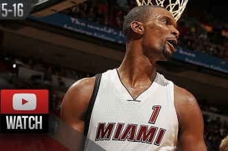 Les highlights de Chris Bosh (29 pts), Hassan Whiteside  (22 pts, 11 rbds, 5 ctrs) et Lillard (32 pts)