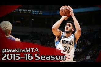Les highlights de Karl-Anthony Towns face aux Pacers