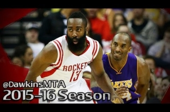 Les highlights de l'excellent duel James Harden (30 pts) – Kobe Bryant (25 pts)