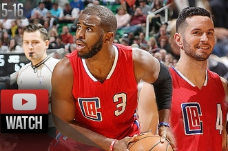 Les highlights de Paul Pierce (20 pts) Chris Paul (19 pts, 11 asts) et JJ Redick (25 pts) face au Jazz