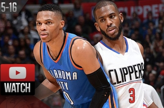 Les highlights du duel épique entre Russell Westbrook (33 pts, 7 asts) et Chris Paul (32 pts, 10 asts)