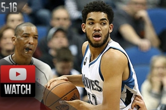 Les highlights du duo Karl-Anthony Towns (25 pts, 10 rbds) – Ricky Rubio (17 asts)
