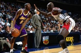 Clyde Drexler et Kobe Bryant