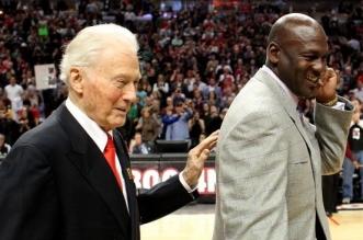 Johnny Bach et Michael Jordan