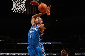 Russell Westbroo dunk thunder