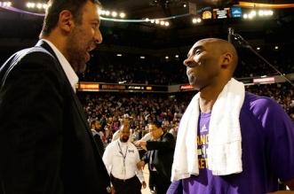 Vlade Divac et Kobe Bryant