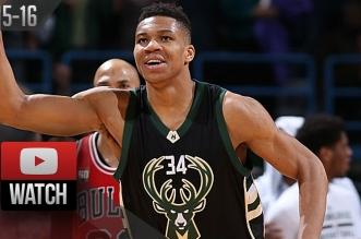 La performance de Giannis Antetokounmpo face aux Bulls: 29 points et 10 rebonds