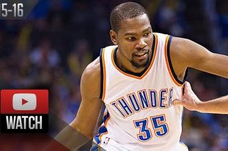 Les highlights de Kevin Durant: 29 points et 10 rebonds