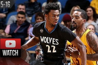 Les highlights du duel Andrew Wiggins (35 pts) – Jr Smith (27 pts)