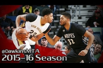 Les highlights du duel Anthony Davis (35 pts) – Karl-Anthony Towns (20 pts)