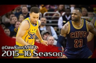 Les highlights du duel Stephen Curry (35 pts) – LeBron James (16 pts)