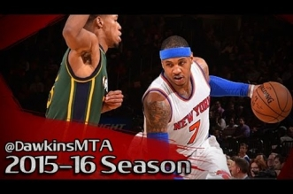 Les highlights du duo Carmelo Anthony (30 pts, 9 asts) – Kristaps Porzingis (16 pts)