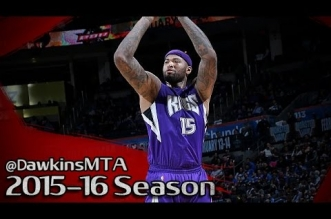 Les highlights du duo DeMarcus Cousins (33 pts, 19 rbds) – Rajon Rondo (13 pts, 19 asts)