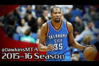 Les highlights du duo Kevin Durant (27 pts) – Russell Westbrook (24 pts, 15 asts)