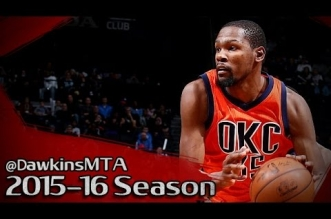 Les highlights du duo Kevin Durant (32 pts, 10 rbds, 7 asts) – Russell Westbrook (27 pts, 11 rbds, 7 asts)